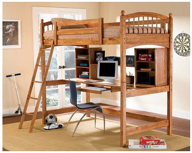 Beds With Desk Underneath