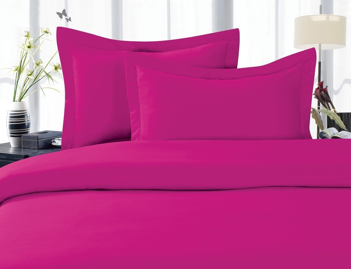 Hot Pink King Size Sheets - b