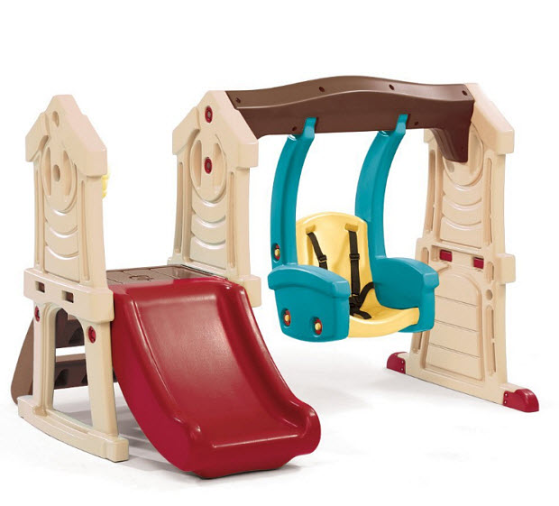 Little Tikes Swing Slide Combo Plastic Outdoor Playsets