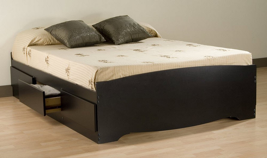 Queen Captains Bed Frame - b