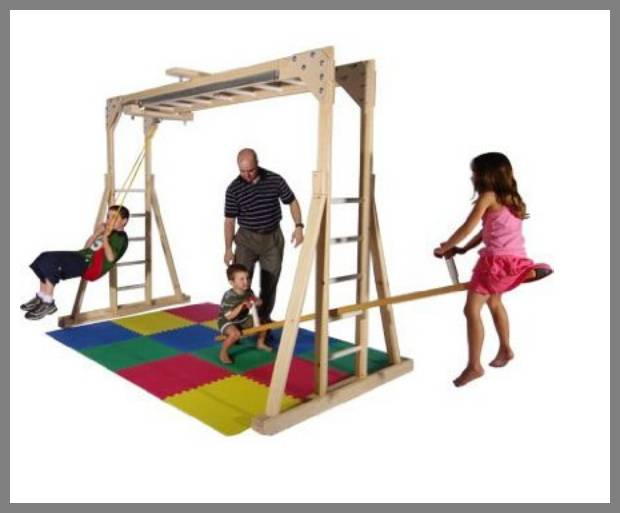 Wooden Jungle Gyms for Kids