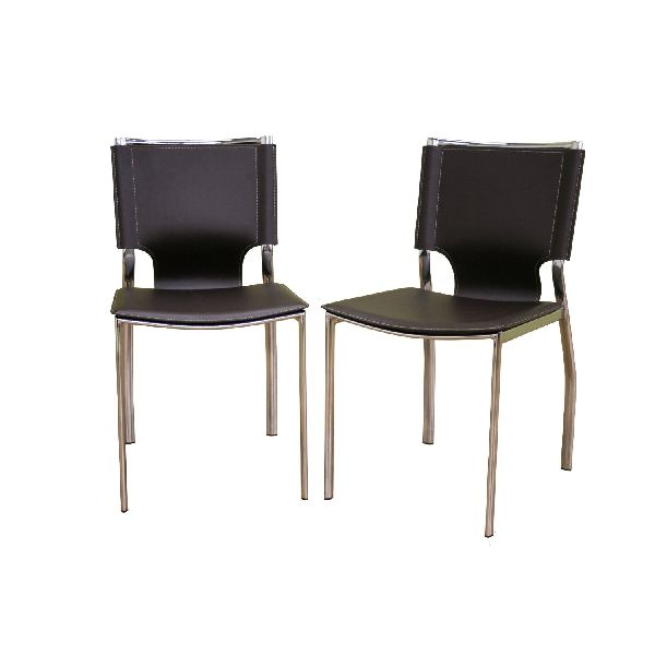 Black Leather And Chrome Dining Chairs