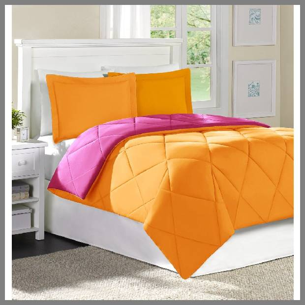 Bright Orange Bedspread