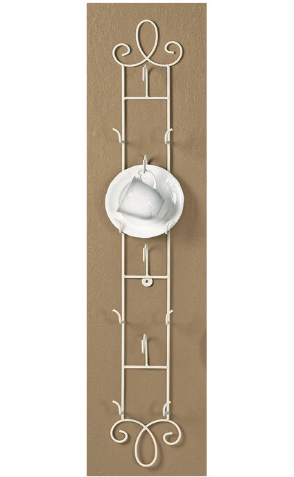 Decorative Wall Plate Holders Example Above 2po Vertical Antique White Cup Saucer Rack 35 5