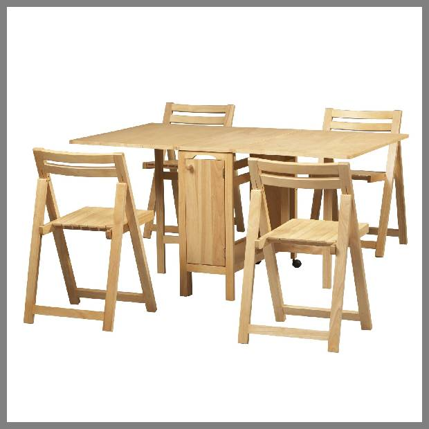 Folding Dinner Table and Chairs