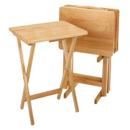 Folding Tray Table Set