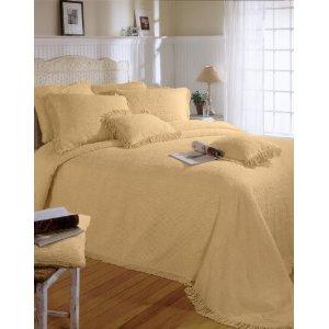 Gold Chenille Bedspread picture