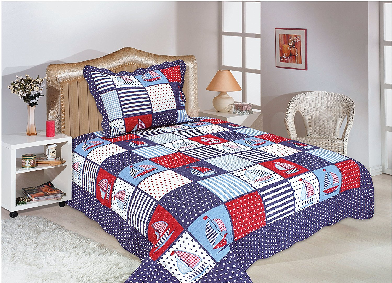 Sailboat Bedspread - r
