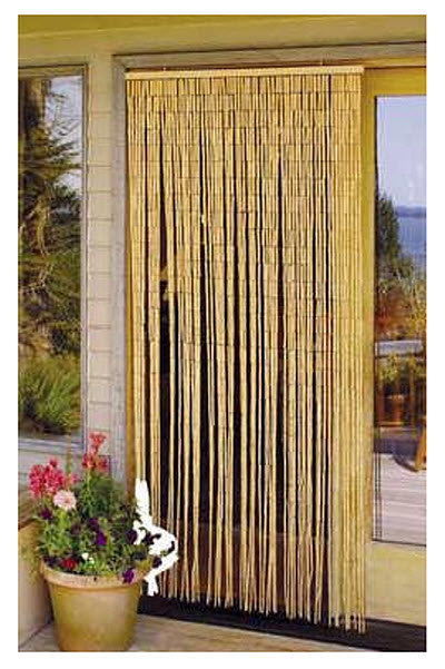 Vertical Bamboo Curtains Pictured: Master Garden Products Natural Beaded  Bamboo Curtain, 36 By 78 Inch