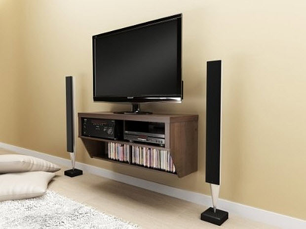 Wall Mounted Media Console - b