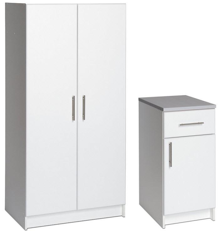 White Melamine Storage Cabinets - r
