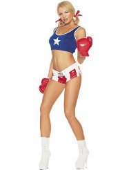 Boxer Halloween Costume Women picture-3