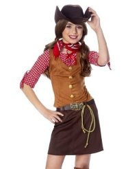 Girls Cowgirl Costume picture-1