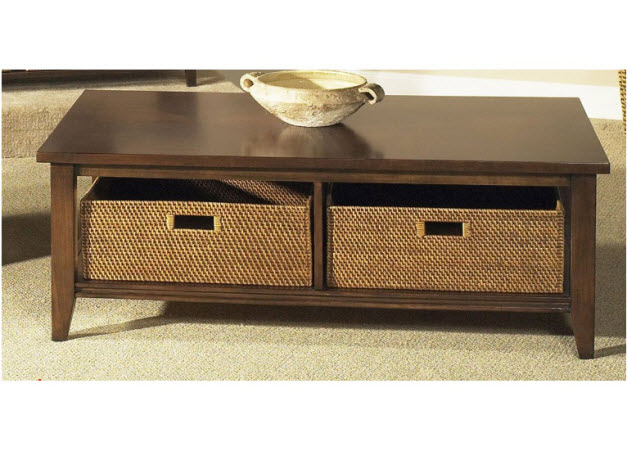 Coffee table with baskets Coffee table baskets