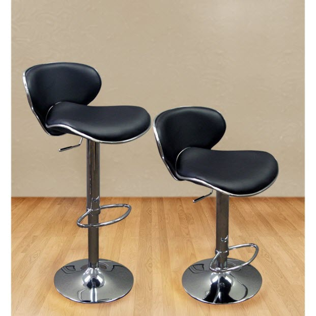 Black Leather Bar Stools with Backs pictured ... & Black Leather Bar Stools with Backs u2013 WhereIBuyIt.com islam-shia.org