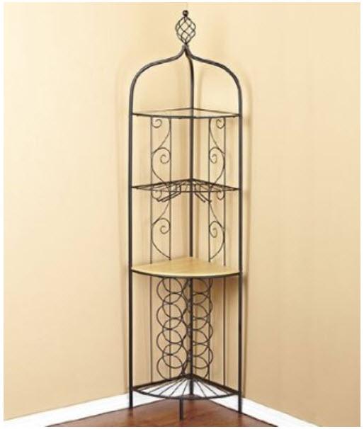 Corner wine glass rack - Tall corner wine rack ...