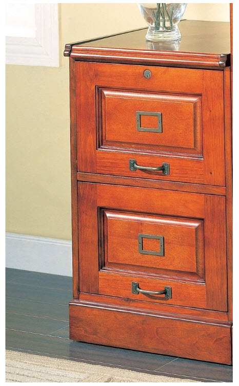 Solid Wood Filing Cabinet U2013 2 Drawer: Solid ...
