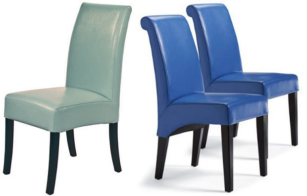 Dining Chair In Blue Leather Whereibuyit Com