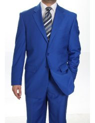 mens royal blue blazer picture-2