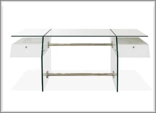 modern glass office desks example pictured contemporary glass top