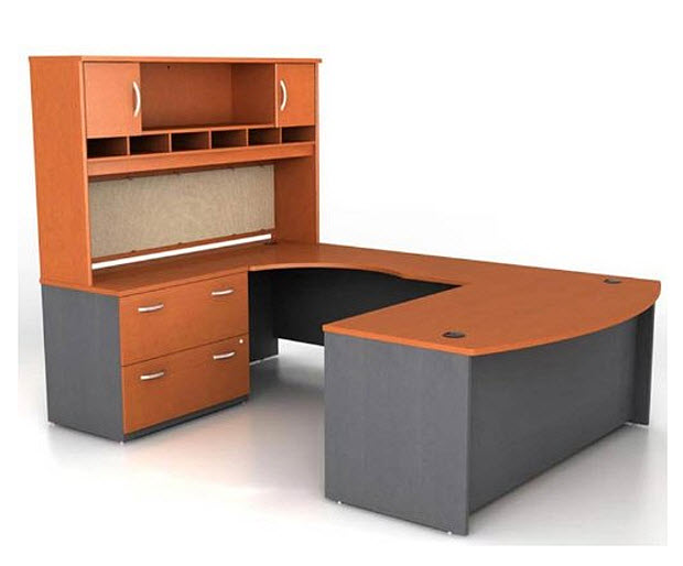 U shaped office desk with hutch – WhereIBuyIt