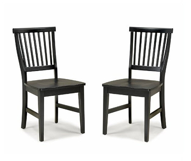 black dining room chairs pictured home styles arts and crafts wood