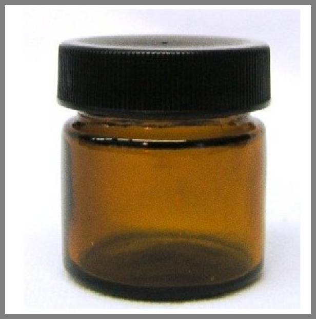 amber glass jars with lids image