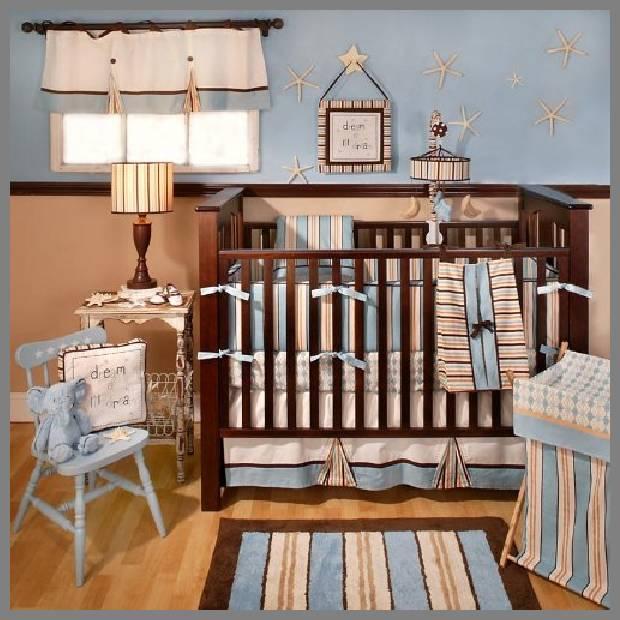 beach cottage baby bedding -1