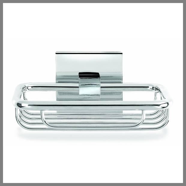 chrome shower soap dish image