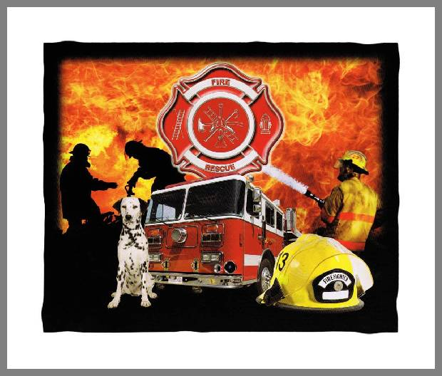 firefighter throw blankets -1