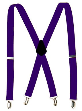mens purple suspenders -1