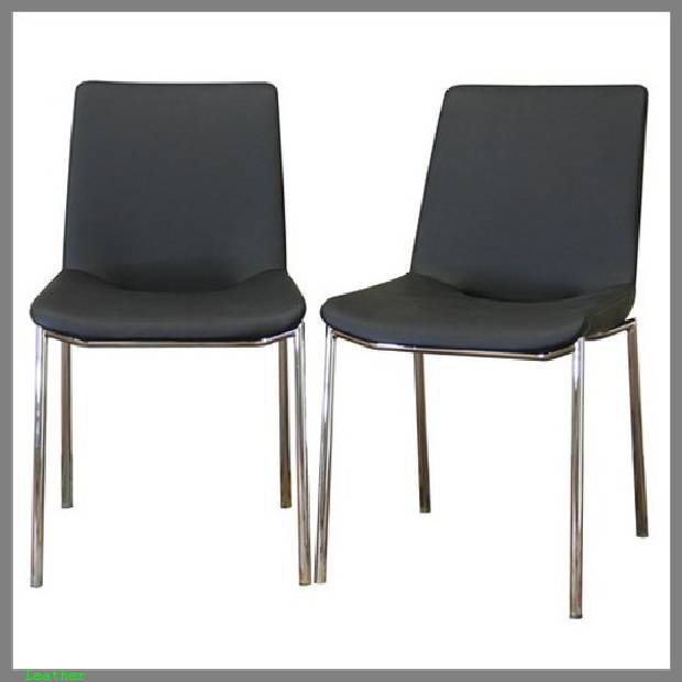 modern leather dining chairs image