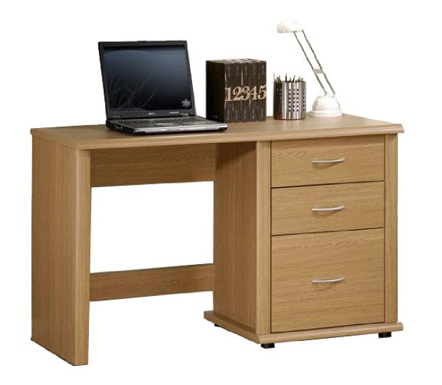 small office desk with drawers pictured no tools technique furinno
