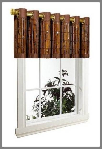 Bamboo window valance