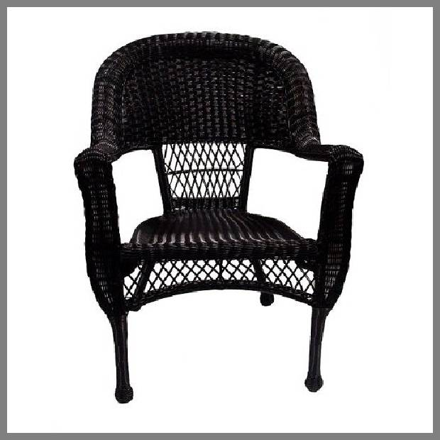 Black wicker dining chairs image