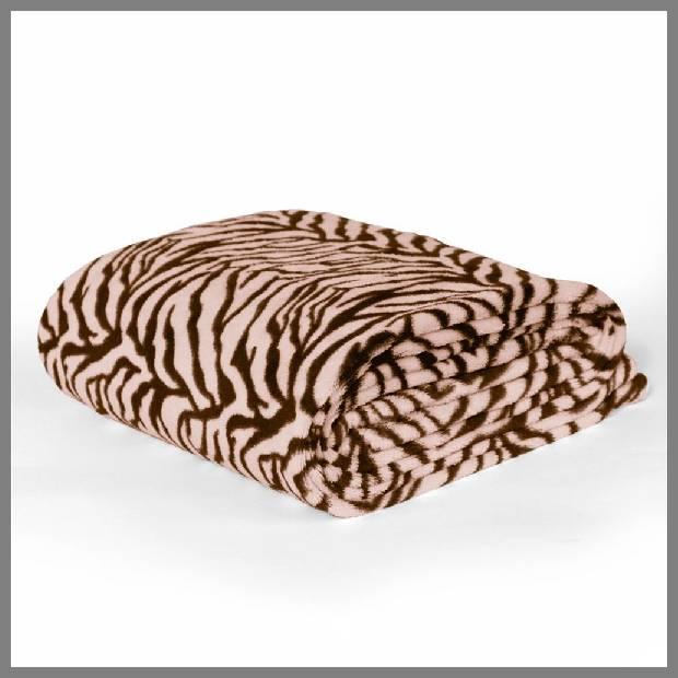 Brown Zebra Throw Blanket image