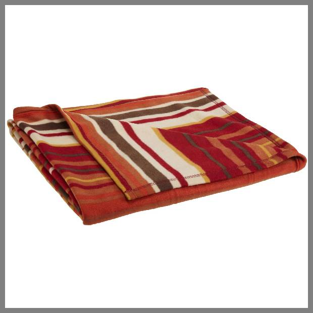 Burnt orange throw blanket