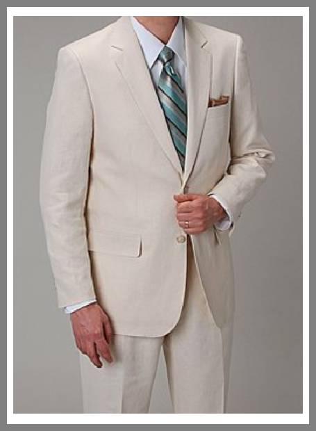 Cheap linen suits for men image