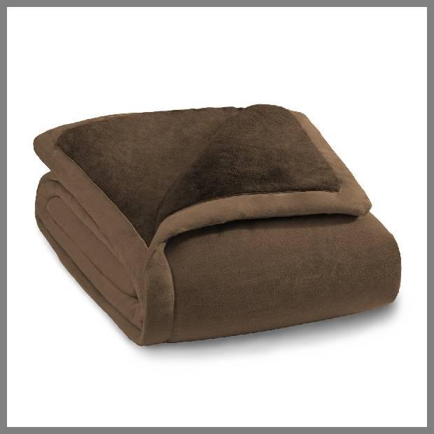 Chocolate brown throw blanket