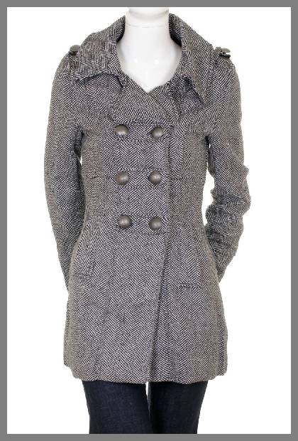 Double breasted wool coat for women image