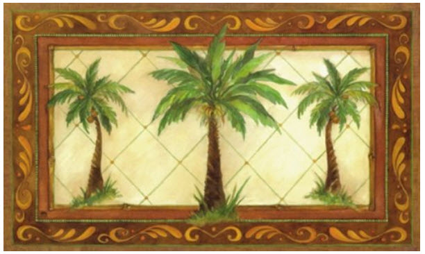Indoor outdoor palm tree rugs