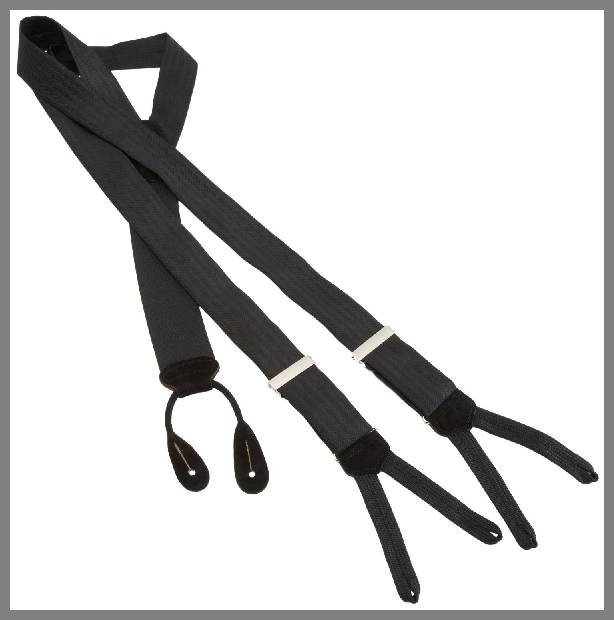 Mens silk suspenders