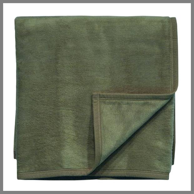 Olive green throw blanket