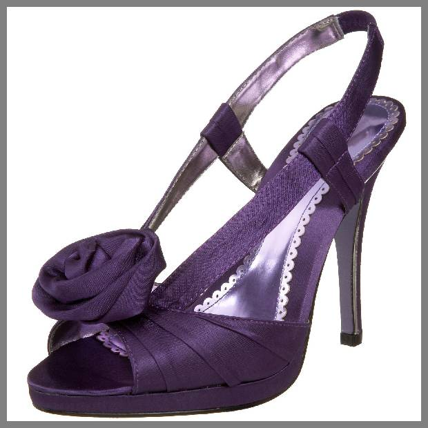 Purple wedding shoes for women