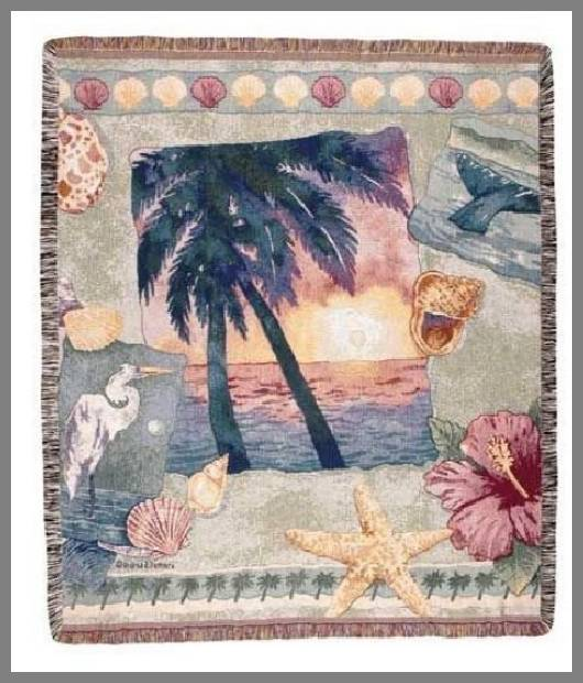 Tropical throw blanket