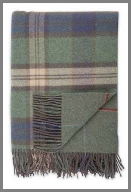 Tweed throw blanket