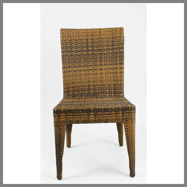 Wicker rattan dining chairs image