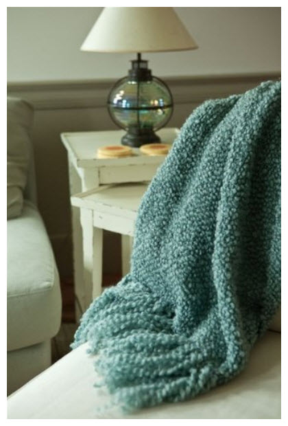 Boucle throw blanket