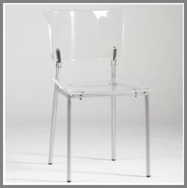 clear acrylic dining chairs image