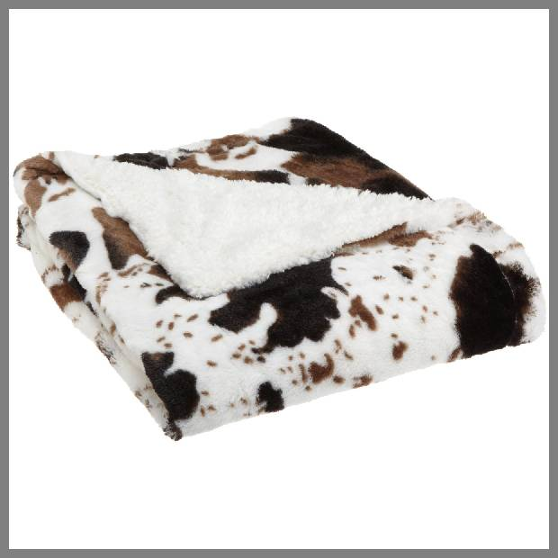 cow print throw blanket
